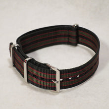 NATO Strap Black, Red and Green James Bond