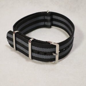 NATO Strap Black and Grey James Bond