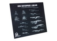 Star Trek USS Enterprise Lineage Blueprint Plaque