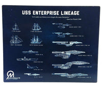 Star Trek USS Enterprise Lineage Blueprint Plaque - Mahannah's Sci-fi Universe