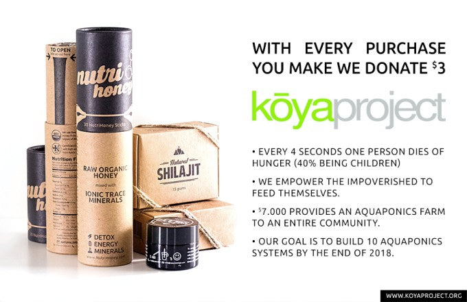 NATURAL SHILAJIT RESIN / KOYA PROJECT – Fighting Hunger Together