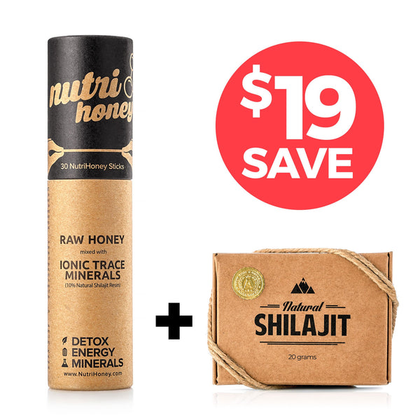 Bundle Deal: Natural Shilajit Resin + NutriHoney ($19 in Savings)