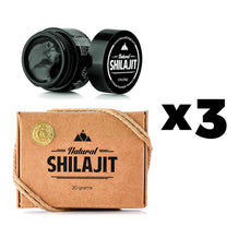 3 x Natural Shilajit Resin (Best Seller)