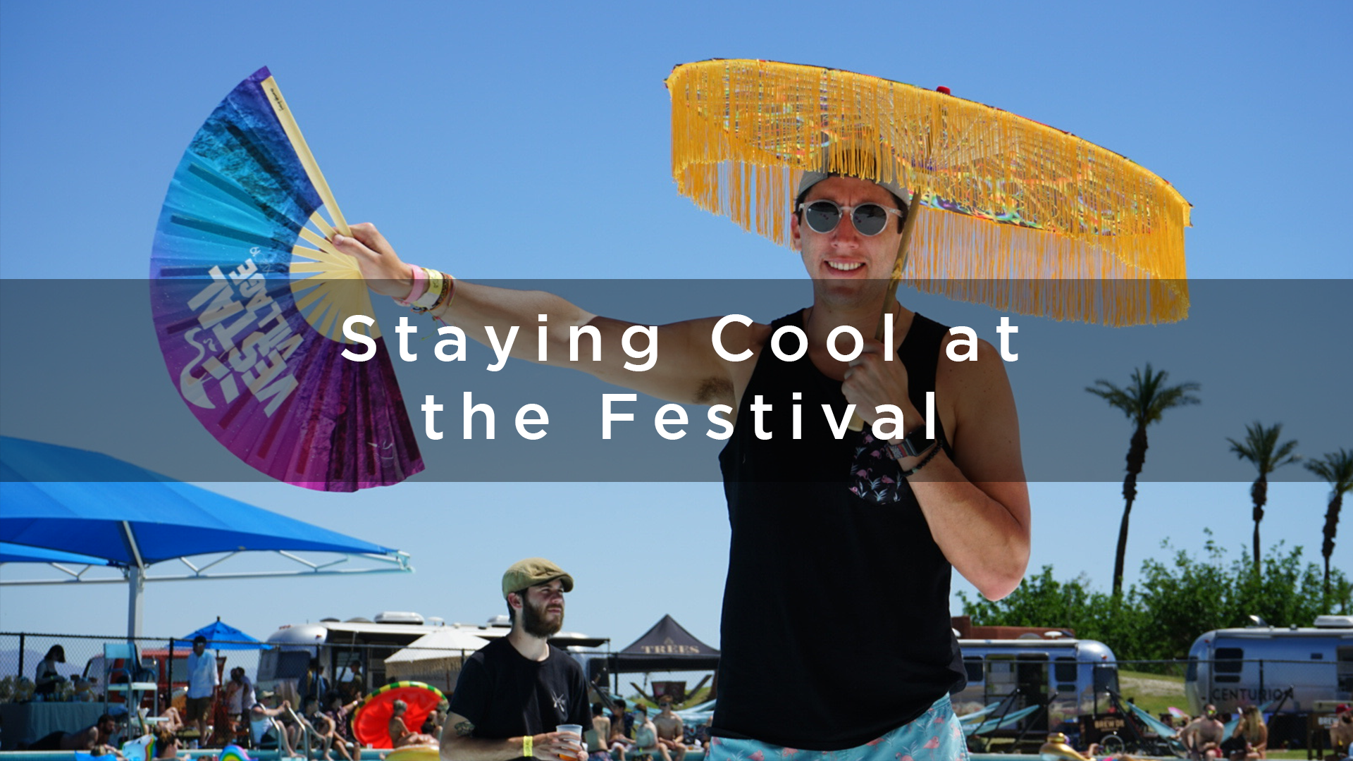 festival fans staying cool at a festival
