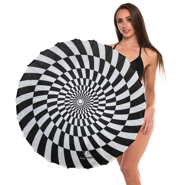 "Checkered Vortex 33"" Festival Parasol"