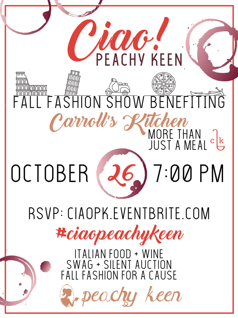 Ciao! Peachy Keen's Fall Fashion Show