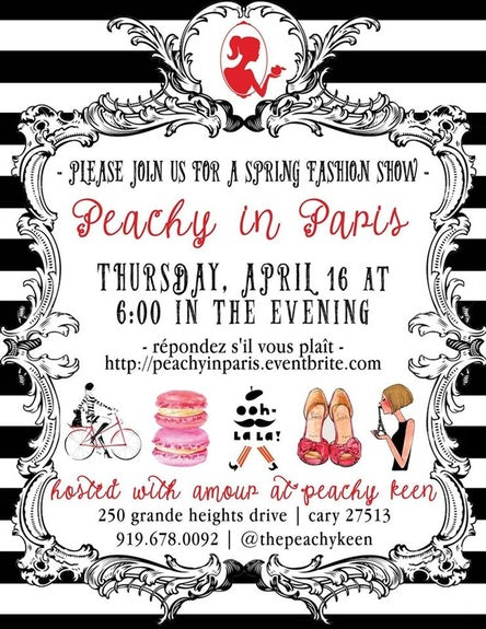 Peachy in Paris: A Spring Fashion Show