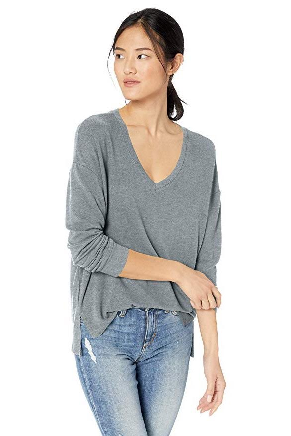 Katelin Top ~ Heather Grey