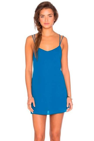 Criss Cross Applesauce Dress ~ Blue Lagoon