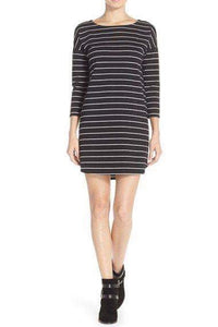 Dinah Shirt Dress ~ Black Stripe