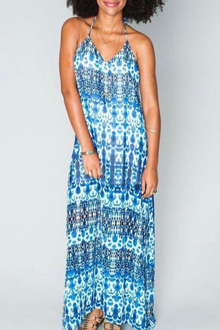 Erlyn Maxi Dress ~ Fountain Blue