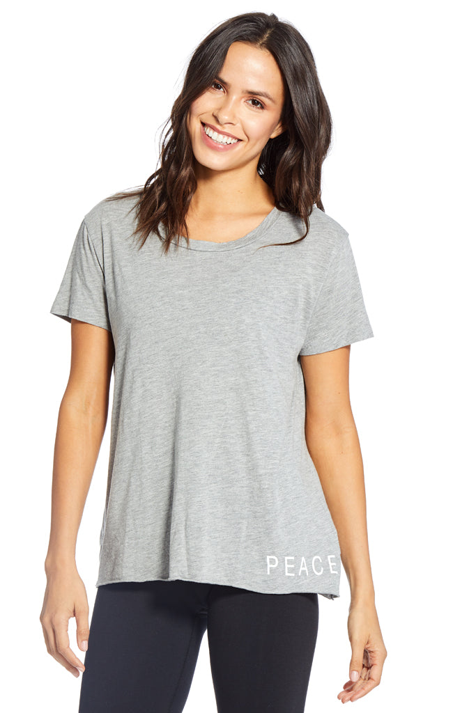 Dakota Peace & Love Tee ~ Heather