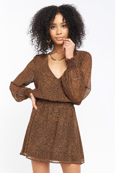 Adelaide Dress ~ Lucky Leopard