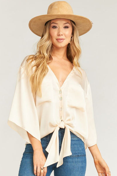Ruby Top ~ Satin Cream