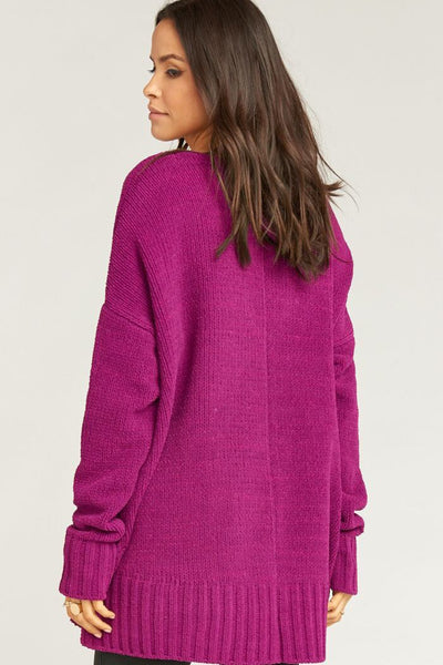 Hug Me Sweater ~ Ultraviolet