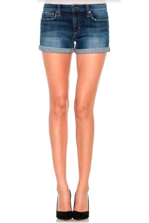 Emmie Rolled Shorts ~ Dark Wash