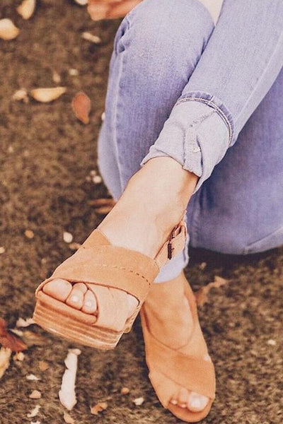 Ibiza Sandal ~ Honey Suede