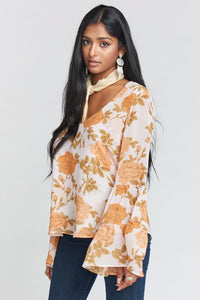 Nicolette Top ~ Desert Rose