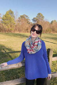 Emma Shaker Sweater ~ Rio Blue