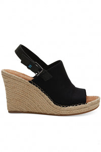 Oxford Monica Wedges ~ Black