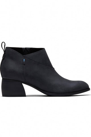 Leilani Leather Bootie ~ Black