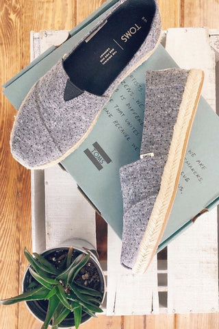 Chambray Espadrilles ~ Black, Tiny Dots