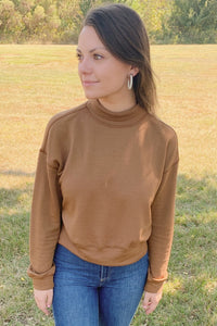 Presly Turtleneck Top ~ Sahara