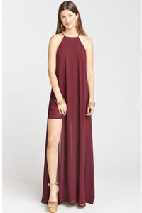 Bronte Maxi Dress - Cabernet Chiffon
