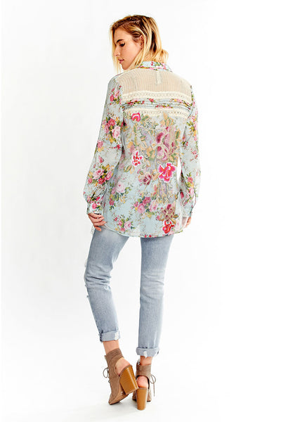 Garden Party Shirt ~ Teal