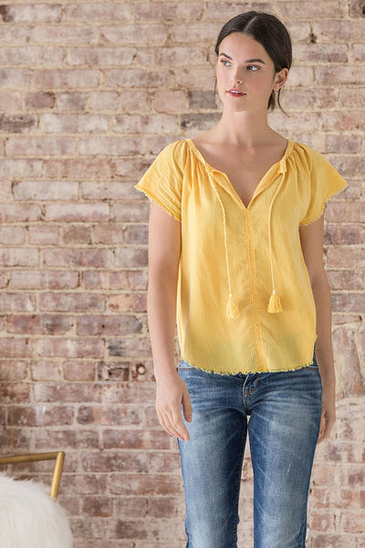 Sunshine Tassel Top ~ Mango