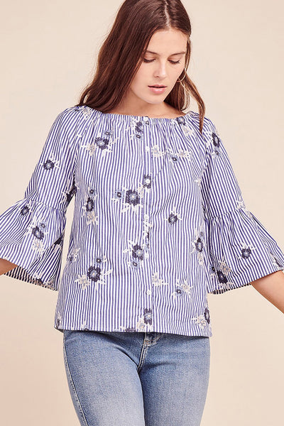 Muy Perfecto Top ~ Light Blue