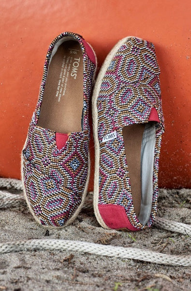 Pink Multi Woven Rope Sole