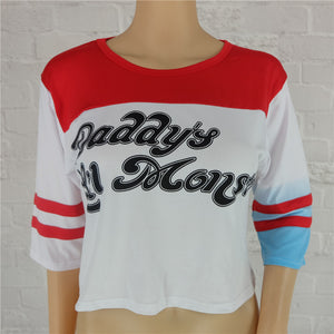 Harley Quinn's T-shirt: Daddy's Lil Monster