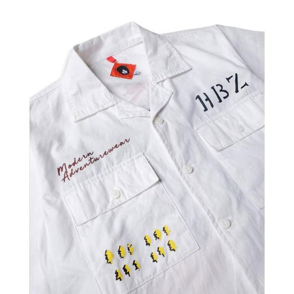Veteran Nose Art White Canvas Shirt