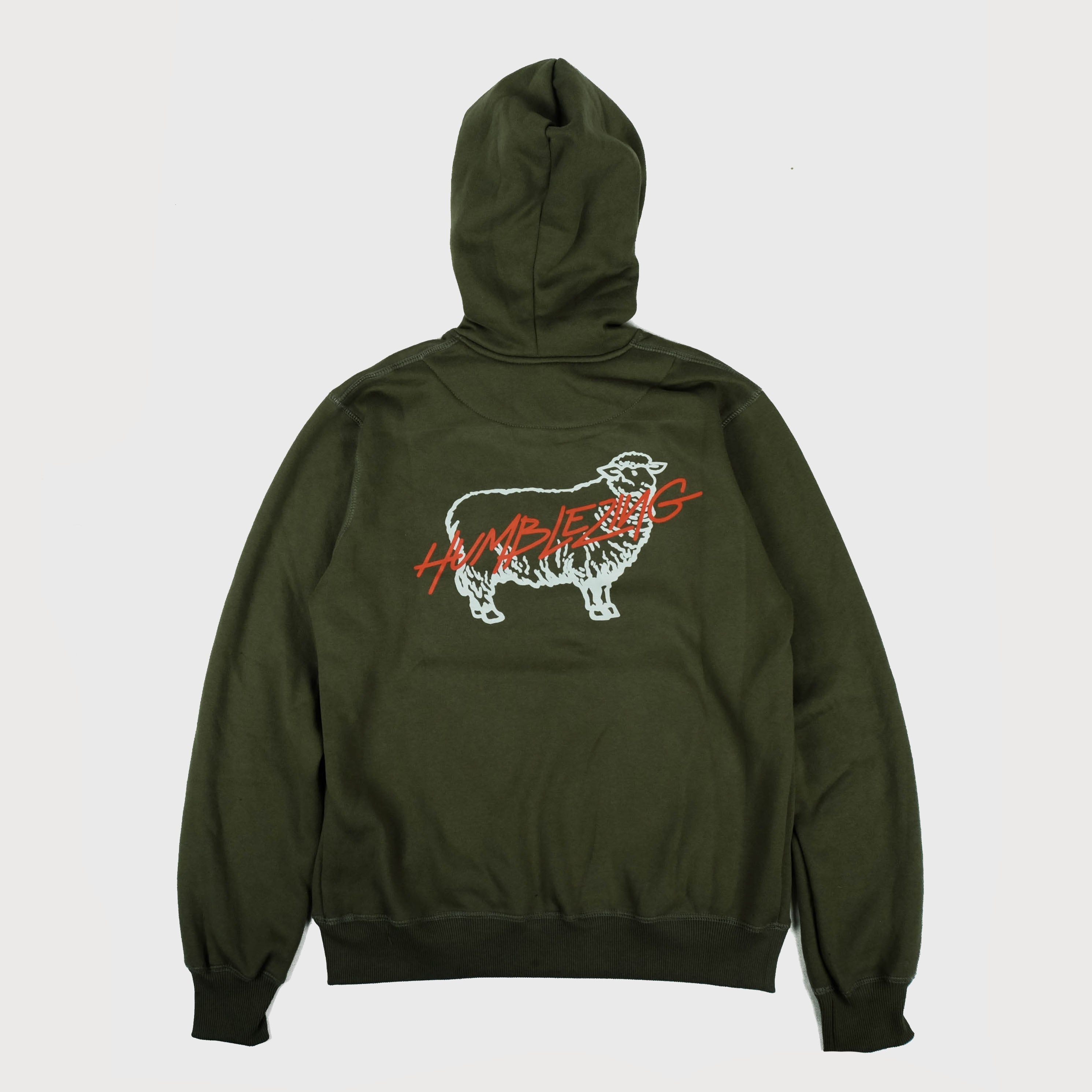 P/O Letter Olive Fleece Hoodie