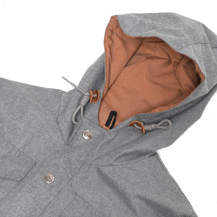 Chessa Gray Herringbone Parka
