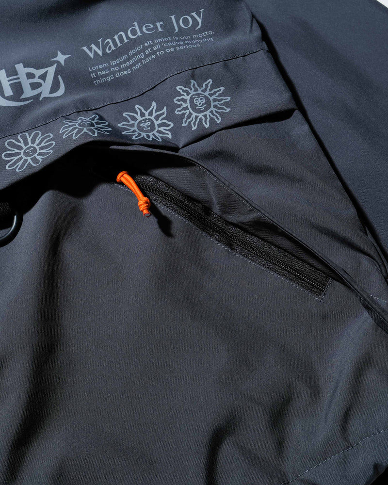 Gaussian Blouseon Ebony Jacket