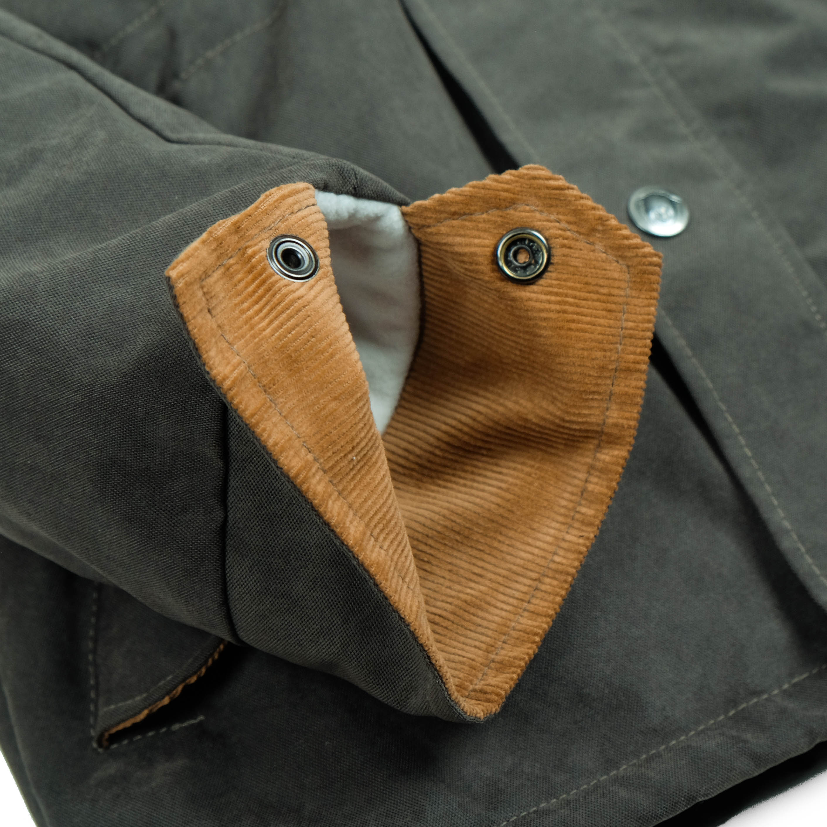 Quebec Olive Canvas Parka