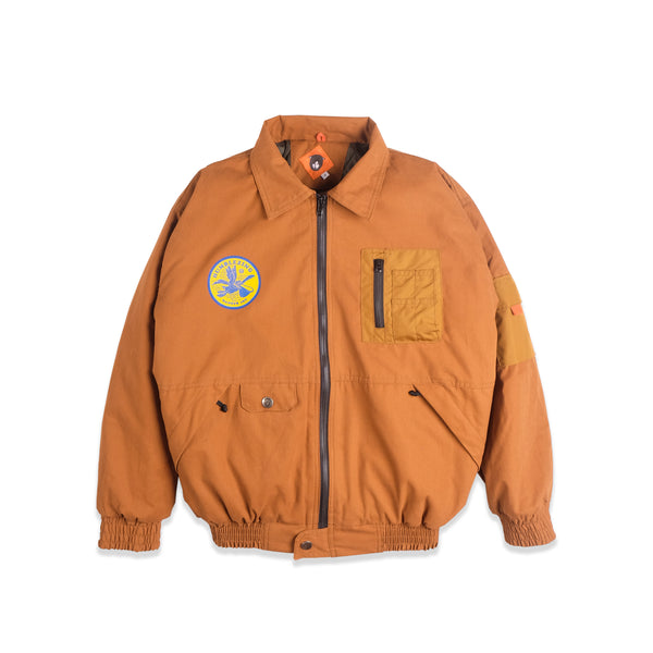 Alpha Brown Canvas Bomber Jacket