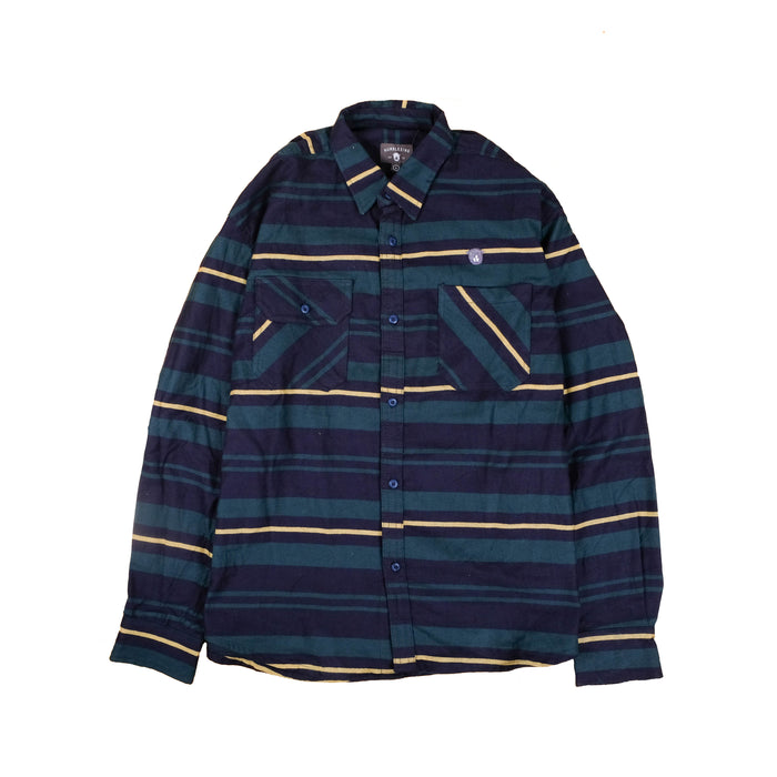 Oahu Stripe Navygreen Flannel