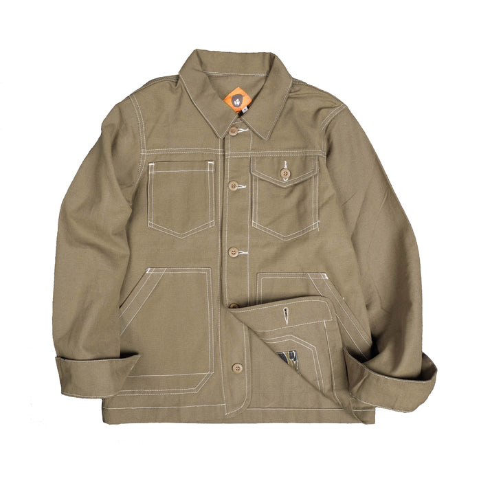 Varia Cream Canvas Jacket