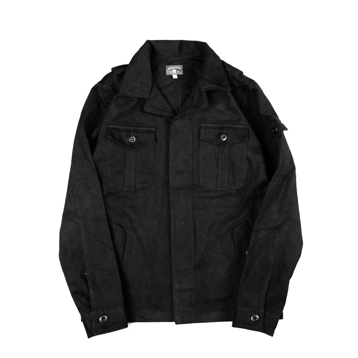 Wilbur Black Twill Jacket
