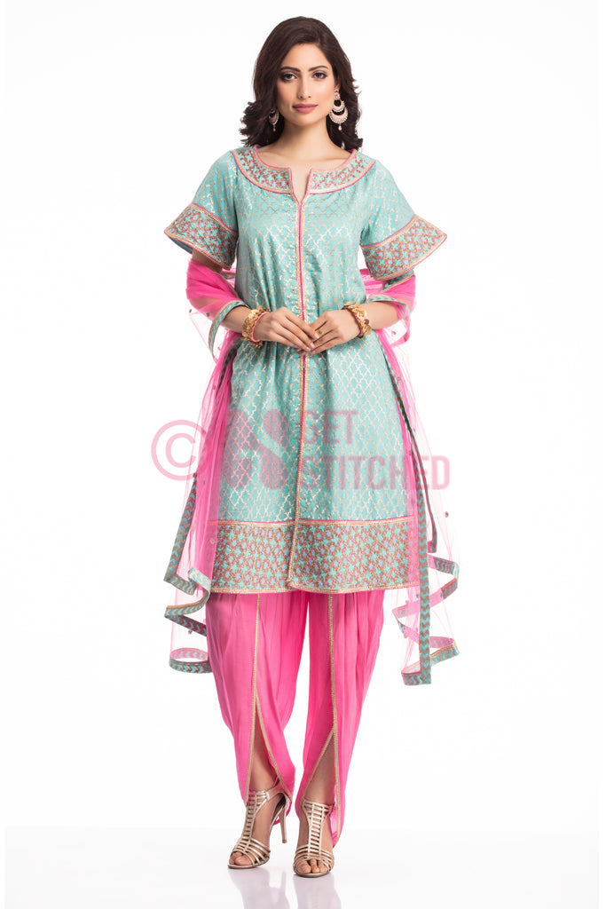 Get Short Kurta with Tulip Pant Combo Set at doorstep