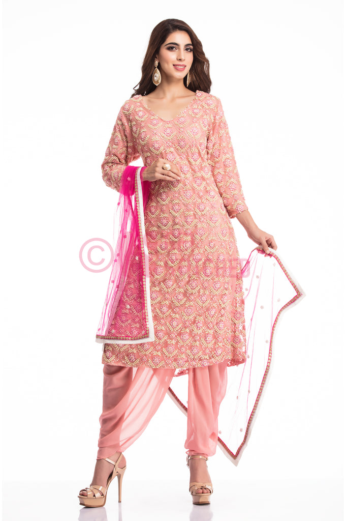 Onion Pink kurta & dhoti pant set in Delhi at doorstep