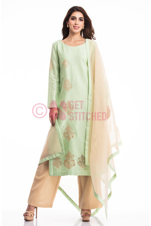 Powder Green Kurta & Palazzo at your doorstep in Delhi