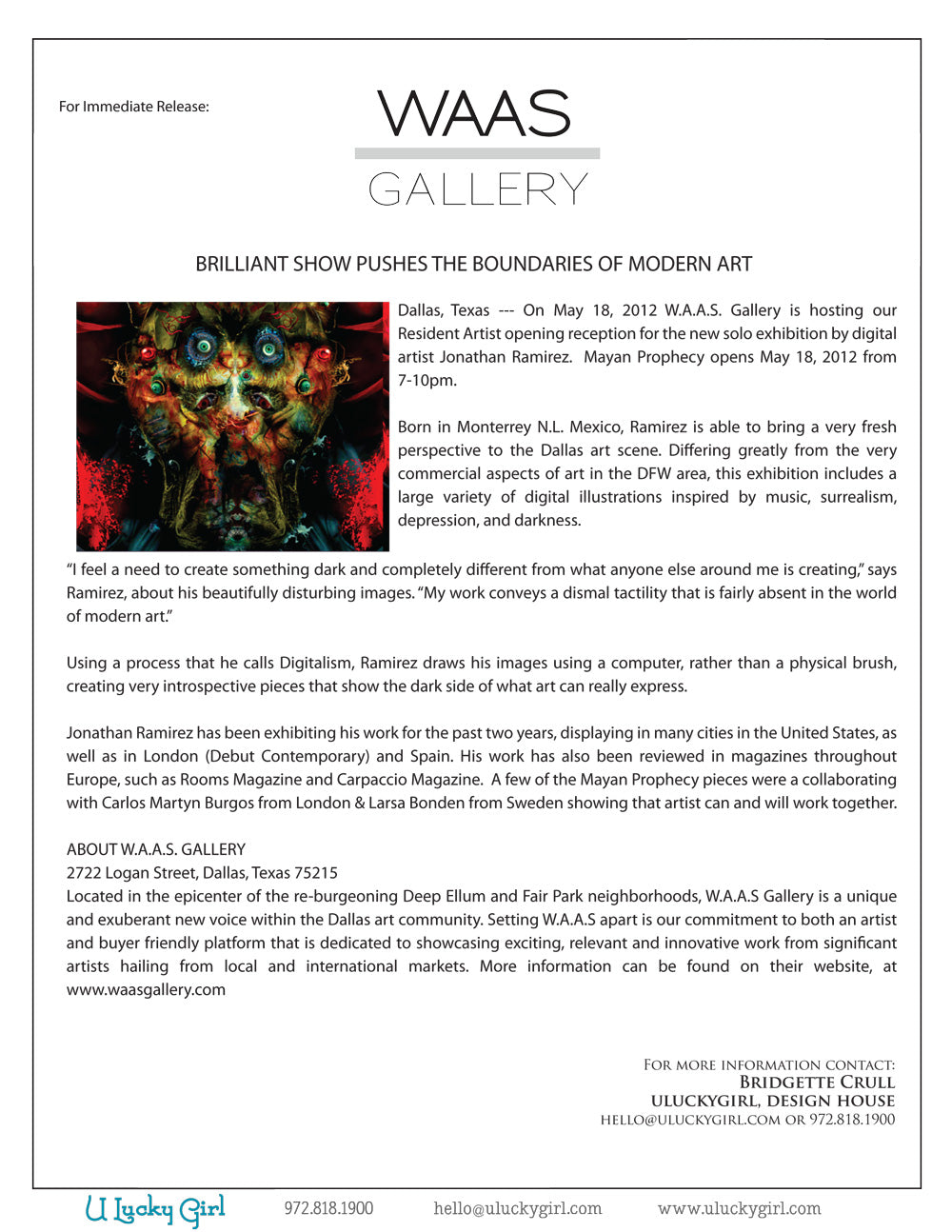 Art Gallery Press Release