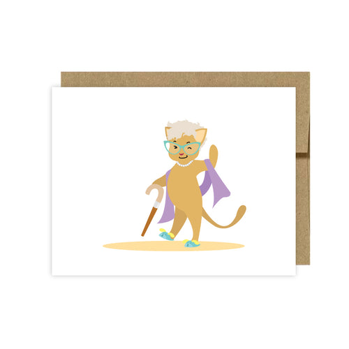 Cat Note Cards-Cat Thank You Cards- U Lucky Girl