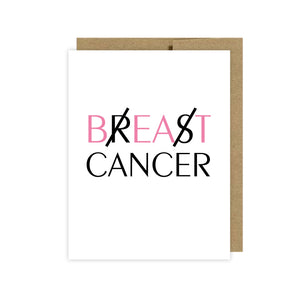 Breast Cancer Card - U Lucky Girl