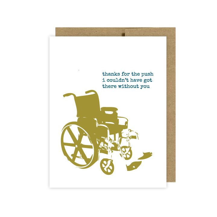 Caregiver Thank You Card - U Lucky Girl