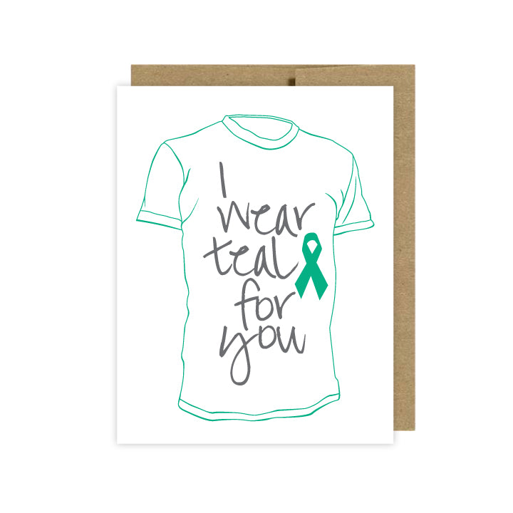 Ovarian Cancer Support Card - U Lucky Girl